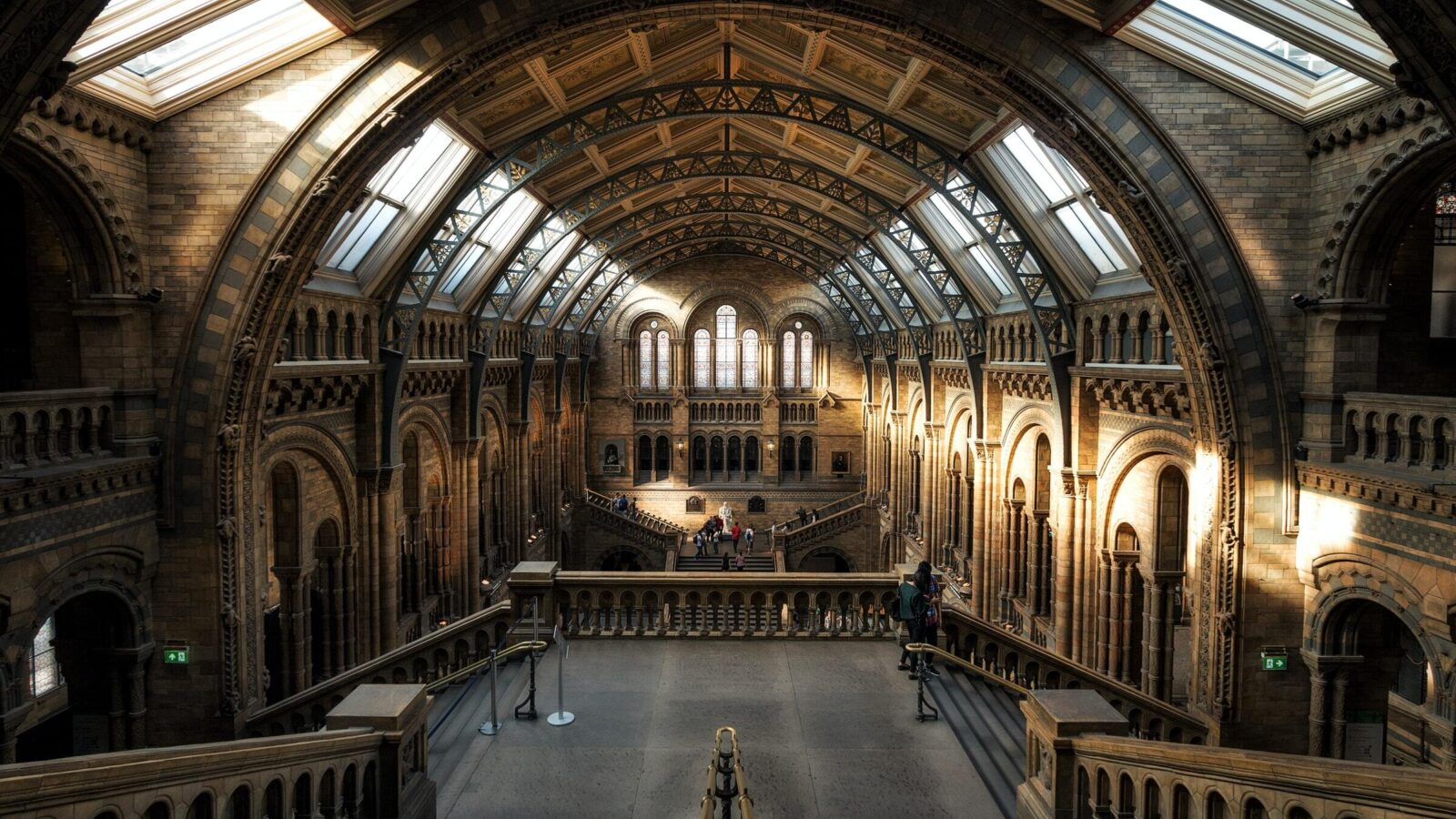 Photograph of the main hall at the Natural History Museum
