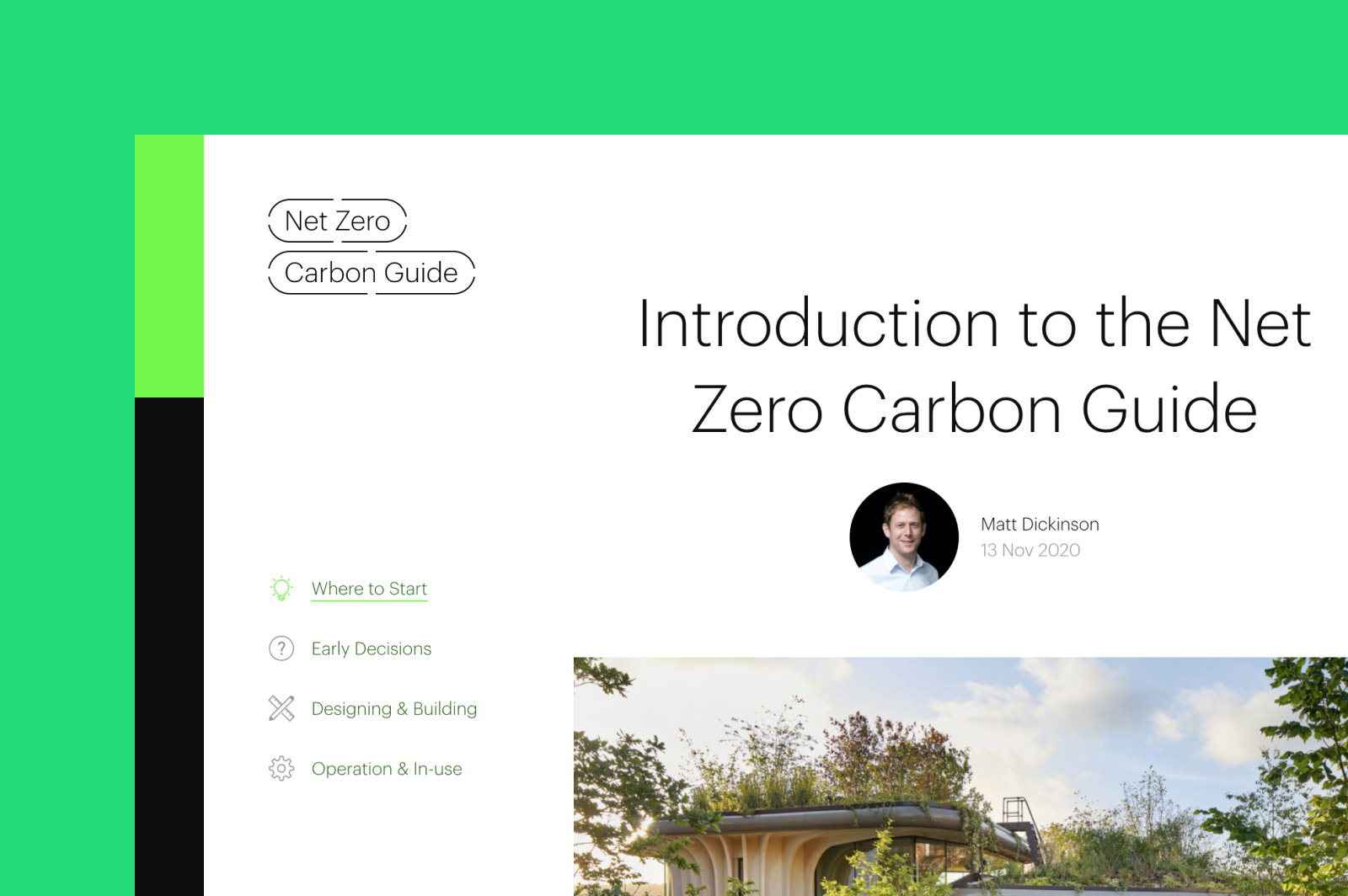Screengrab of the Net Zero Carbon website for Max Fordham