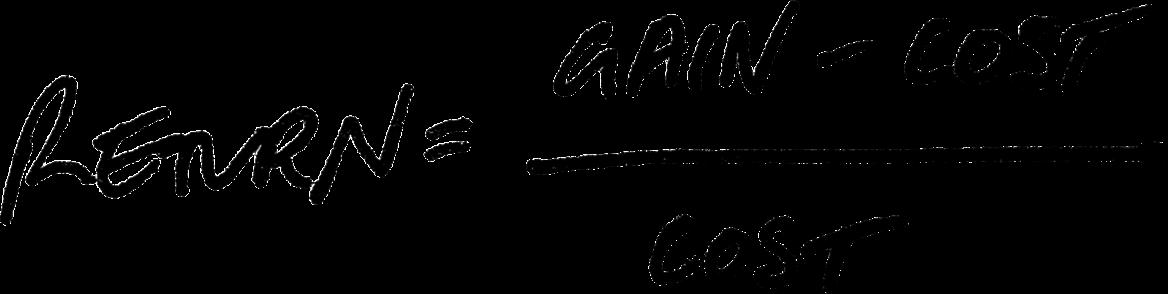 A basic ROI equation